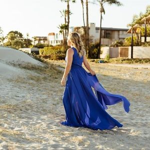 Vici Diana sleeveless maxi dress royal blue